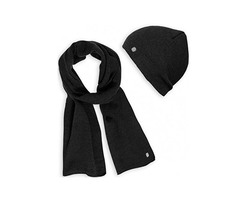 Heavy Tools Pánský set zimní čepice a šály Patria18 W18-790 Black