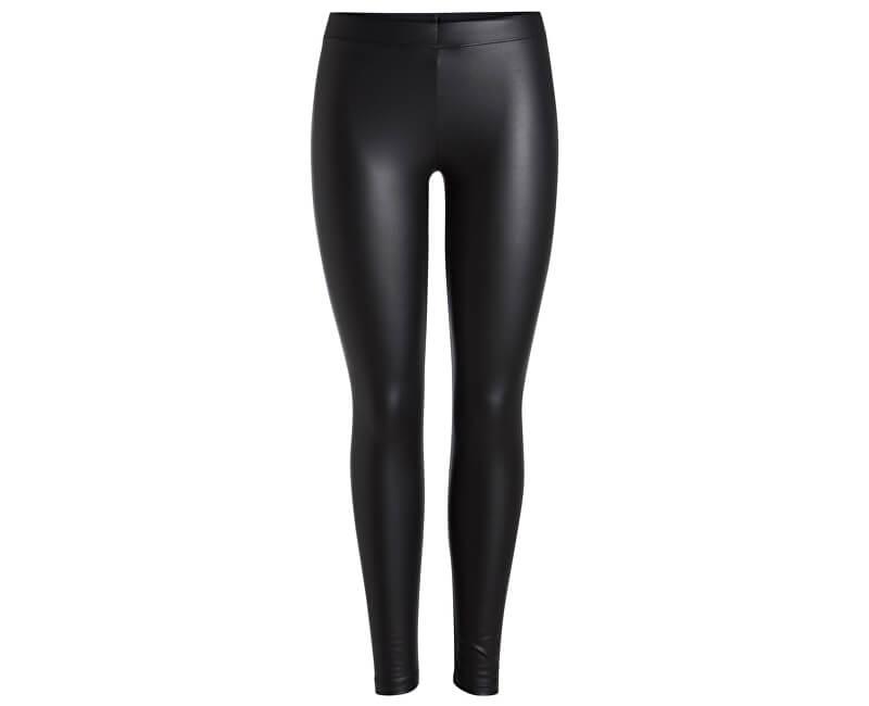 Pieces Dámské legíny New Shiny Fleece Leggings Noos Black