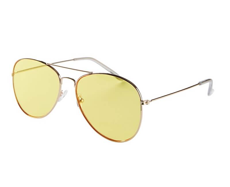 Pieces Dámske slnečné okuliare Cassie Sunglasses Gold