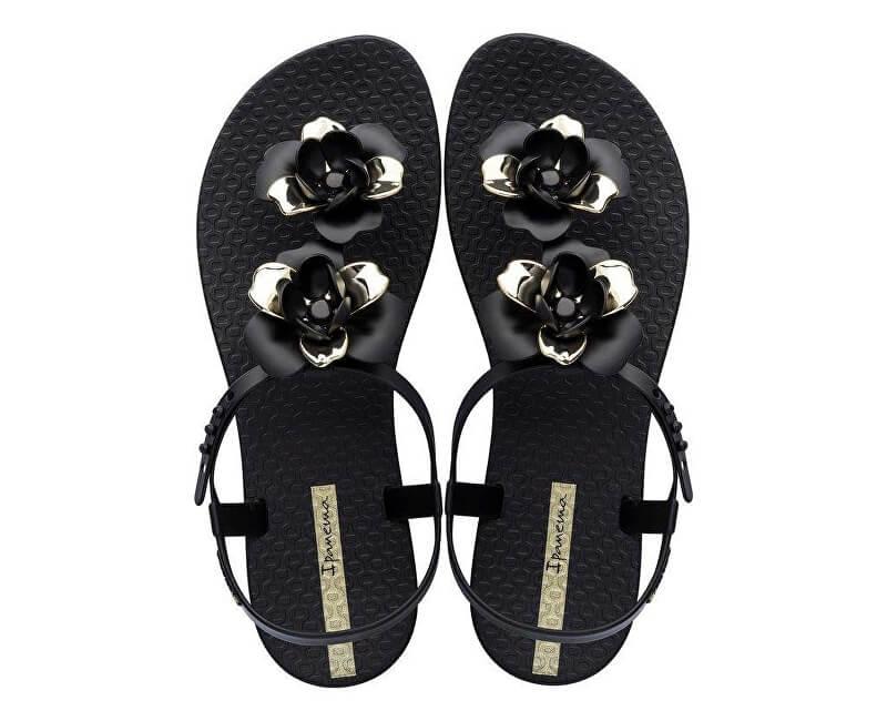 47680997d Ipanema Dámské sandále Floral Sandal Fem 82662-20903 Black/Gold Novinka