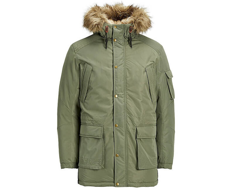 b521593edc Jack Jones Pánská bunda Jorlatte Parka Jacket Dusty Olive ...
