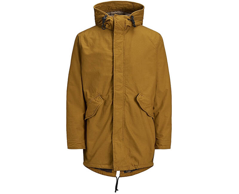 Jack Jones Pánská bunda Jornew Bento Parka Jacket Gold Brown Doprava ... 1b854a43b9d