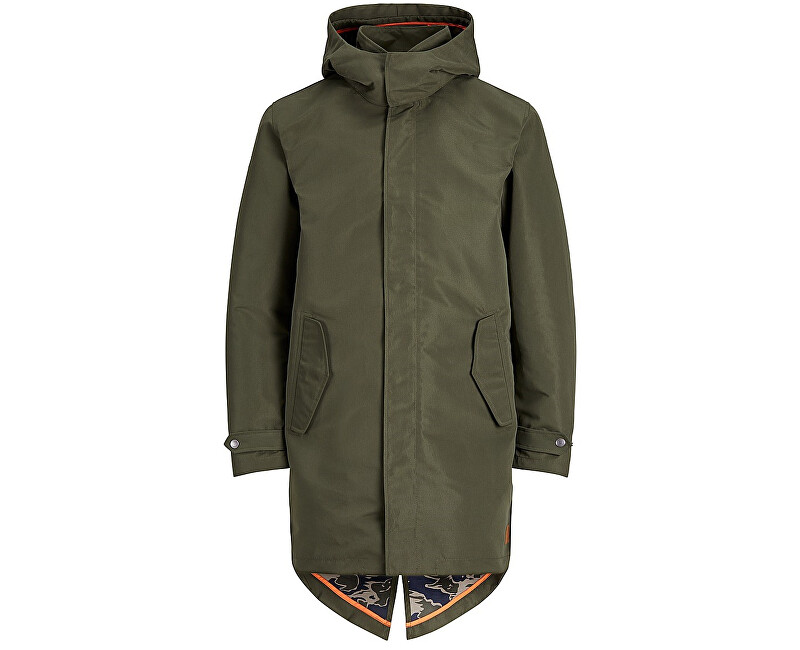 Jack&Jones Pánská bunda Jornew Fate Long Parka Forest Night