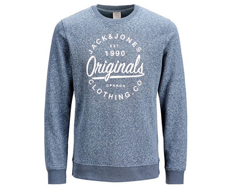 Jack&Jones Pánska mikina Jorbreeze Sweat Crew Neck Total Eclipse