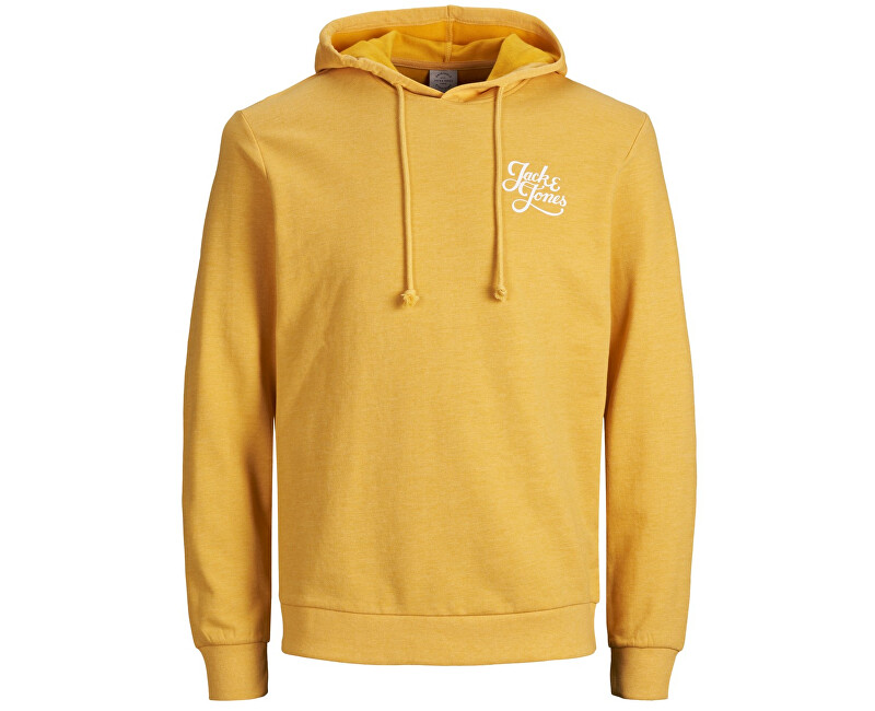 Jack&Jones Pánska mikina Jorgalions Sweat Hood Brushed Yolk Yellow