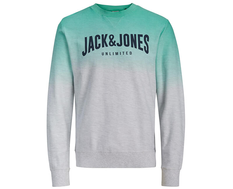 Jack&Jones Pánska mikina Unlimited Sweat Crew Neck White Melange Reg