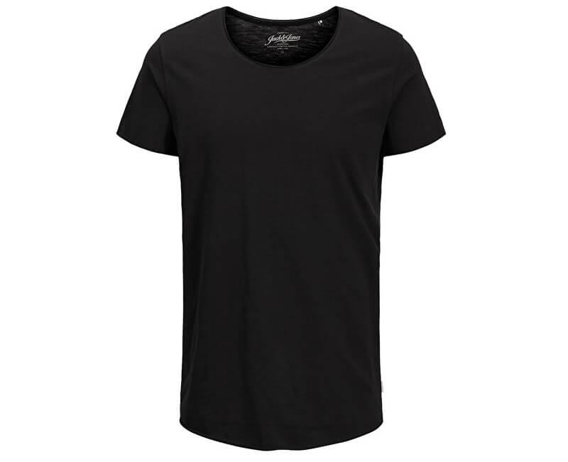 Jack&Jones Pánske tričko Ebas Tee Ss U-Neck Noos Black