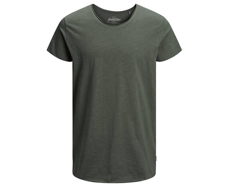 Jack&Jones Pánske tričko Ebas Tee Ss U-Neck Noos Thyme
