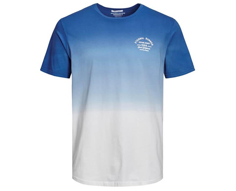 Jack&Jones Pánske tričko Jordeeper Tee Ss Crew Neck Blue Depths Reg