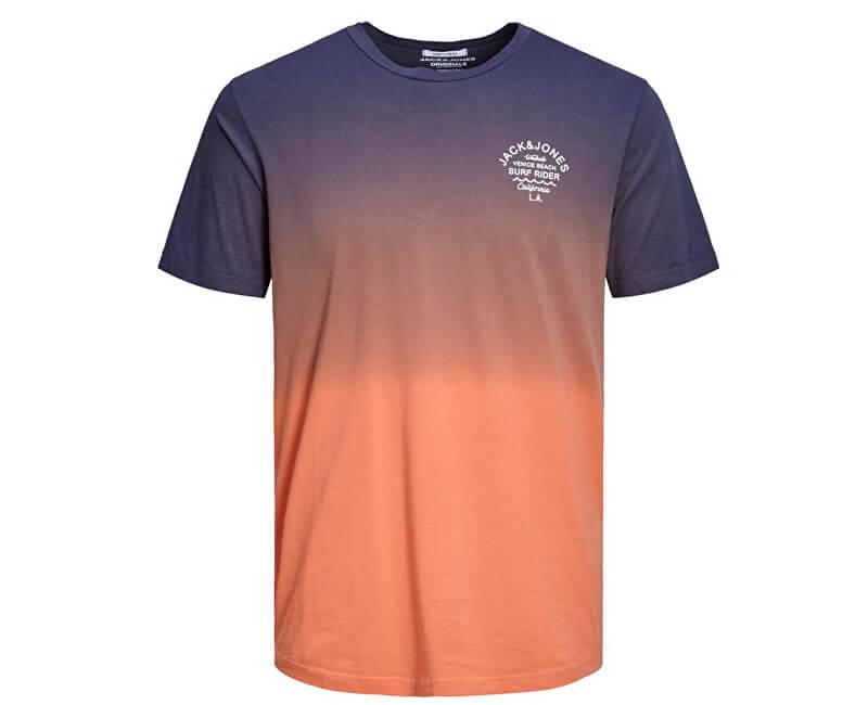 Jack&Jones Pánske tričko Jordeeper Tee Ss Crew Neck Persimmon Reg