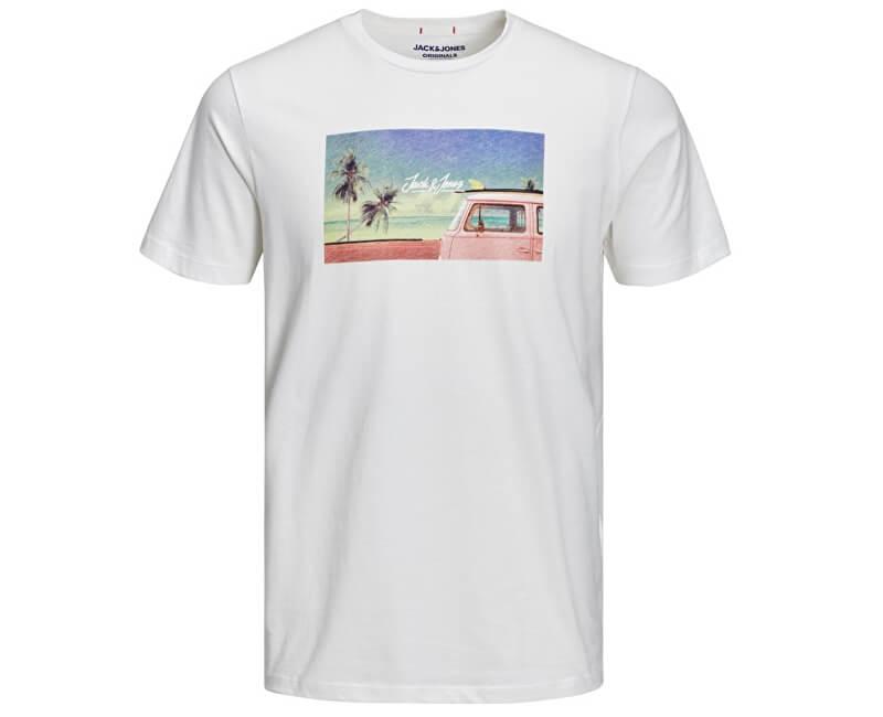 Jack&Jones Pánske tričko Jorhotel Tee Ss Crew Neck Cloud Dancer