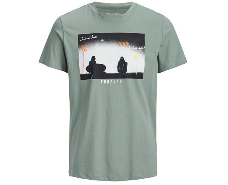 Jack&Jones Pánske tričko Jorsundaze Tee Ss Crewneck Green Bay