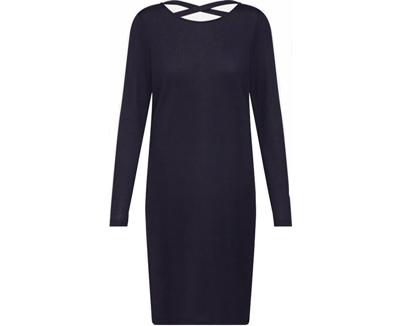 Jacqueline de Yong Dámske šaty Emily L / S Detail Dress Jrs Exp Night Sky