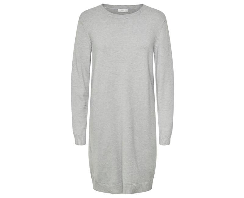 Jacqueline de Yong Imbrăcăminte de damă JDYMARCO L/S DRESS KNT NOOS Light Grey Melange