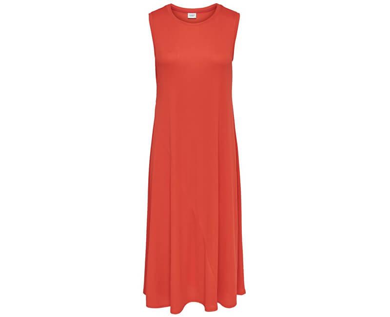 Jacqueline de Yong Dámske šaty Paige S/L Dress Jrs Orange.Com