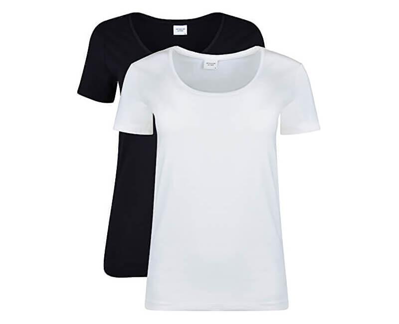 Jacqueline de Yong Dámske tričko Ava S / S Top 2-Pack Jrs Black