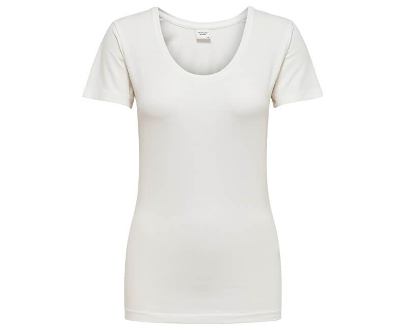 Jacqueline de Yong Dámske tričko Ava Ss Top Jrs Noos Cloud Dancer
