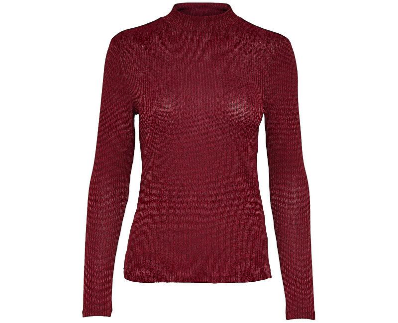 Jacqueline de Yong Dámsky sveter Jamie L / S High Neck Top Jrs Biking Red