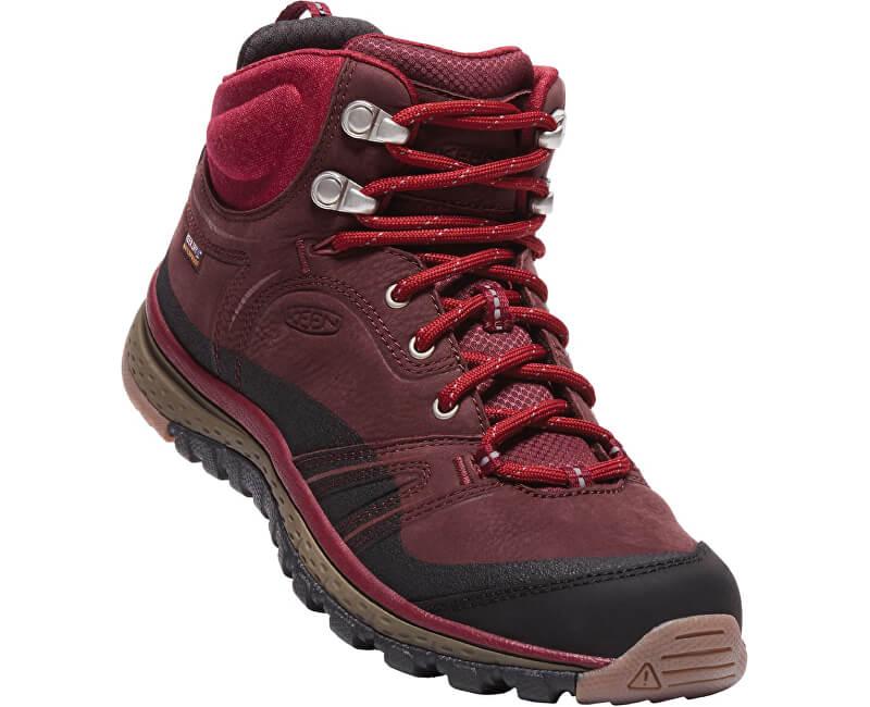 863f1b8bb58f KEEN Dámske kožené topánky Terradora Leather Mid Wp Wine Rododedron ...