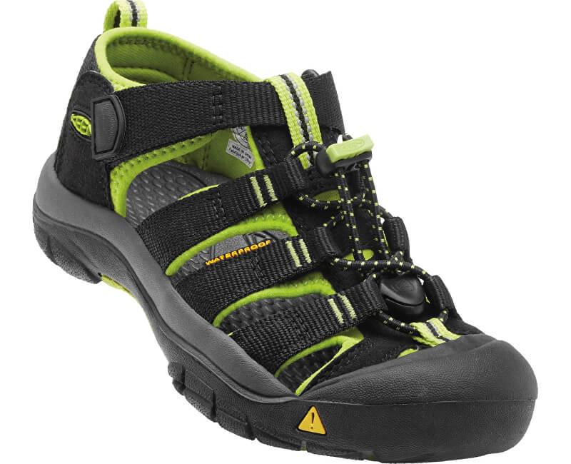 KEEN Dětské sandály Newport H2 Black/Lime Green JUNIOR