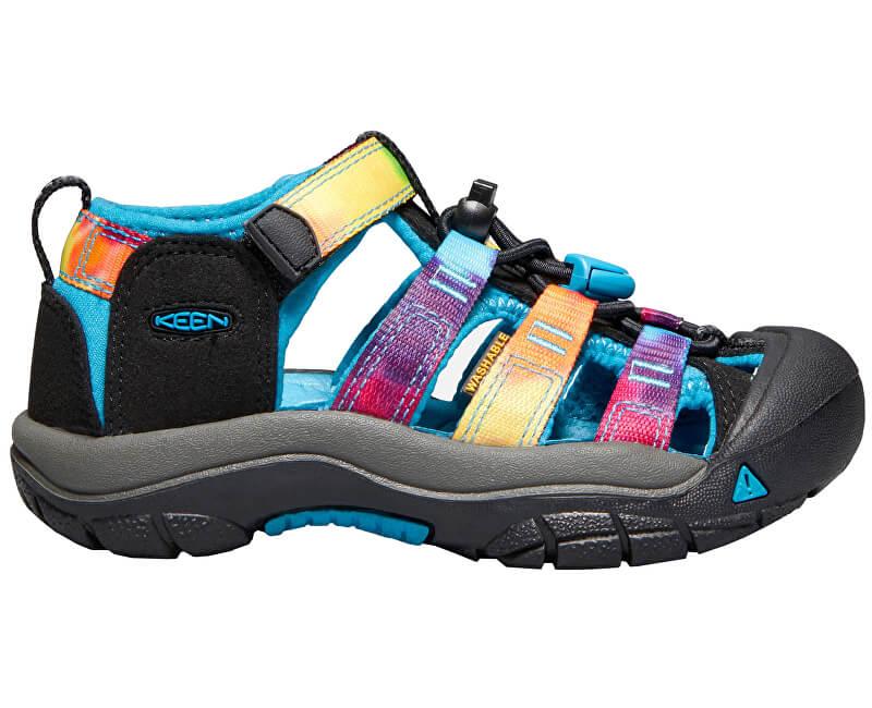KEEN Detské sandále Newport H2 Rainbow tie dye KIDS