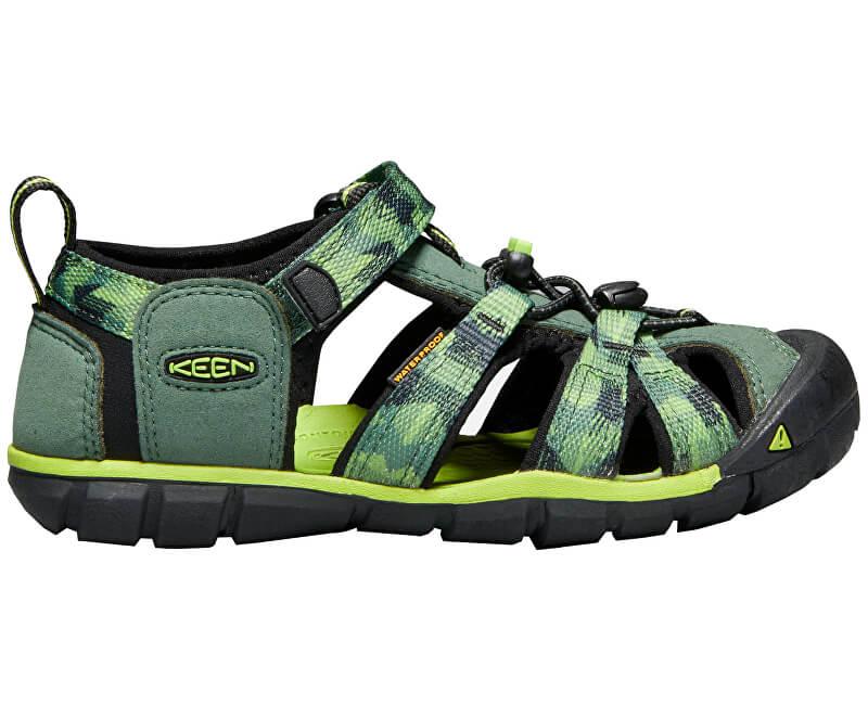 KEEN Detské sandále Seacamp II CNX Duck Green/Greenery KIDS