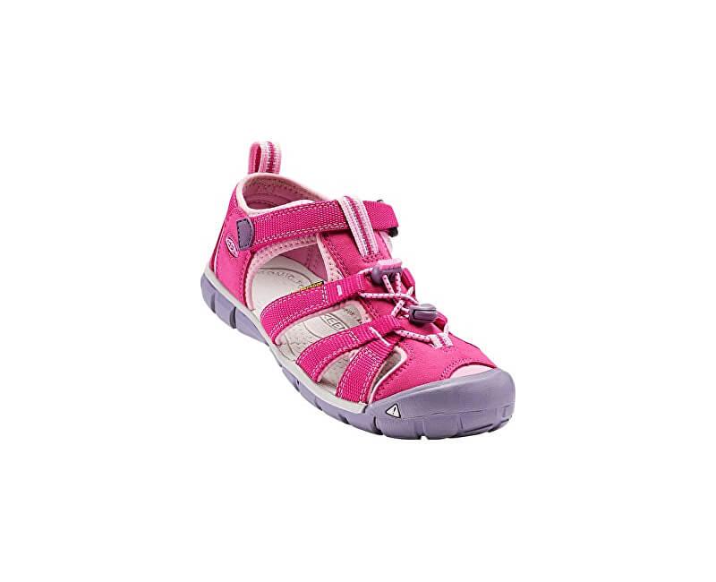 KEEN Detské sandále Seacamp II CNX Very Berry/Lilac Chiffon KIDS
