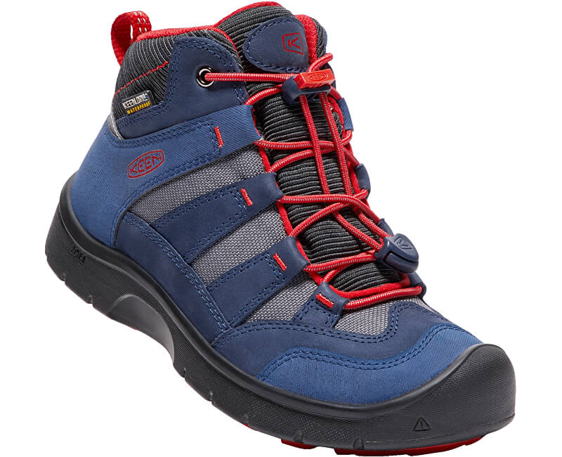 KEEN Junior boty Hikeport Mid Wp dress blues/firey red