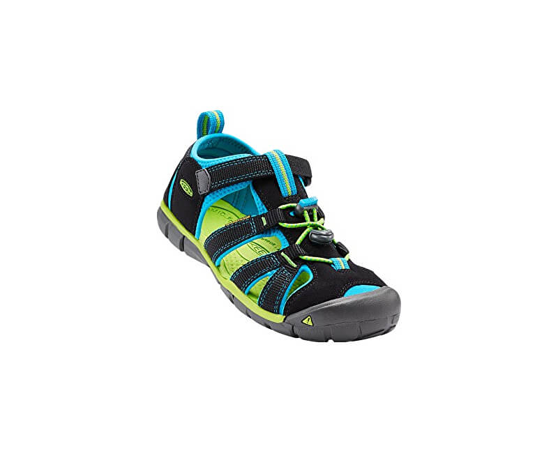KEEN Dětské sandály Seacamp II CNX Black/Blue Danube JUNIOR