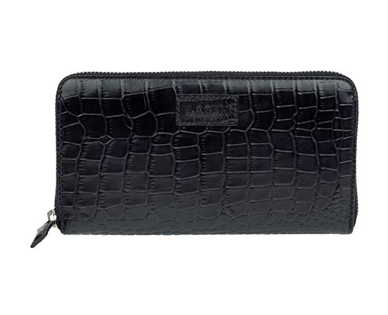 Lagen Dámska čierna kožená peňaženka Black 11227 - ZĽAVA 0 5b87c483c36