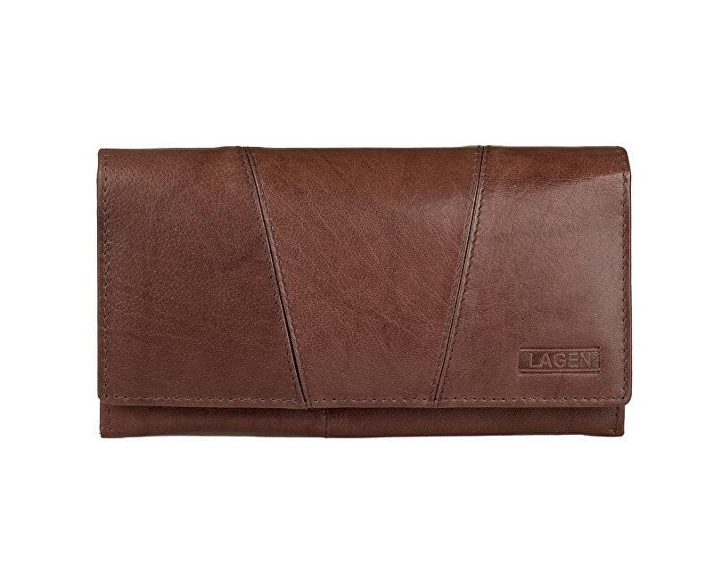 Lagen Dámská hnědá kožená peněženka Brown PWL-388