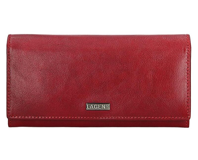 Lagen Női bőr pénztárca 50039 Vörös Ingyenes SZÁLLÍTÁS  ec2ecf6a16