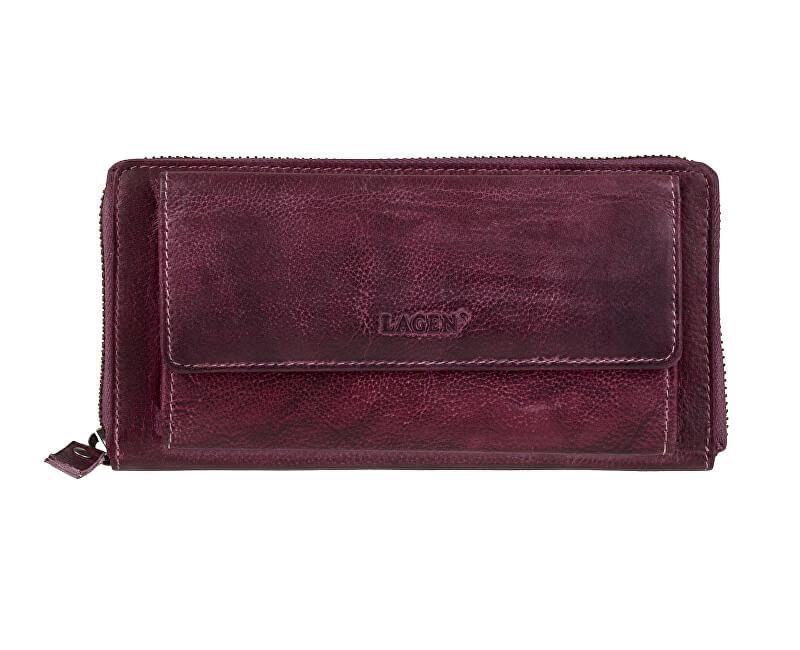 Lagen Piele femei portofel 786-017/D Plum