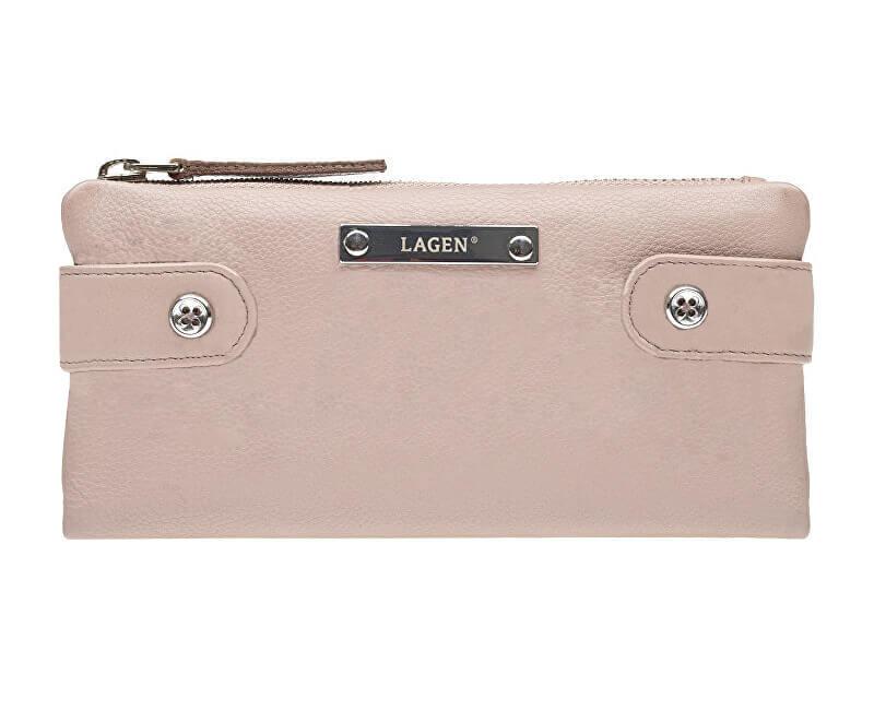 Lagen Dámská kožená peněženka 958 Dusty pink