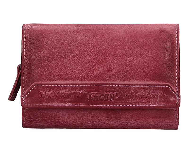 Lagen Dámska kožená peňaženka LG-11/D Plum
