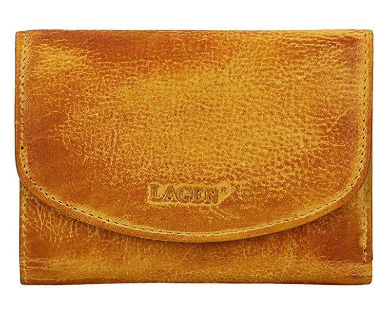 Lagen Dámska kožená peňaženka LG-2522/D Yellow