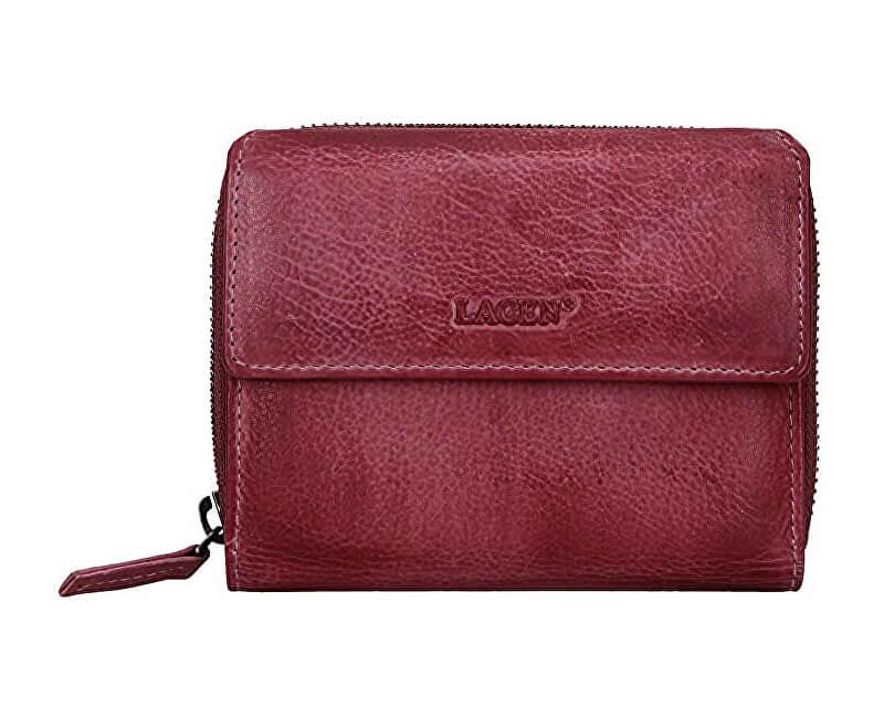 Lagen Dámska kožená peňaženka LG-932/D Plum