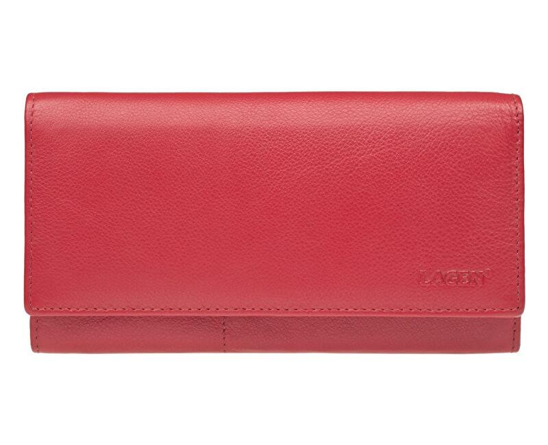 Lagen Dámská kožená peněženka Red W-102/L