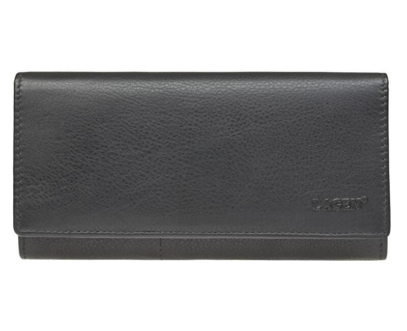 2e53b265f430 Lagen Dámska kožená peňaženka Black W-102 L