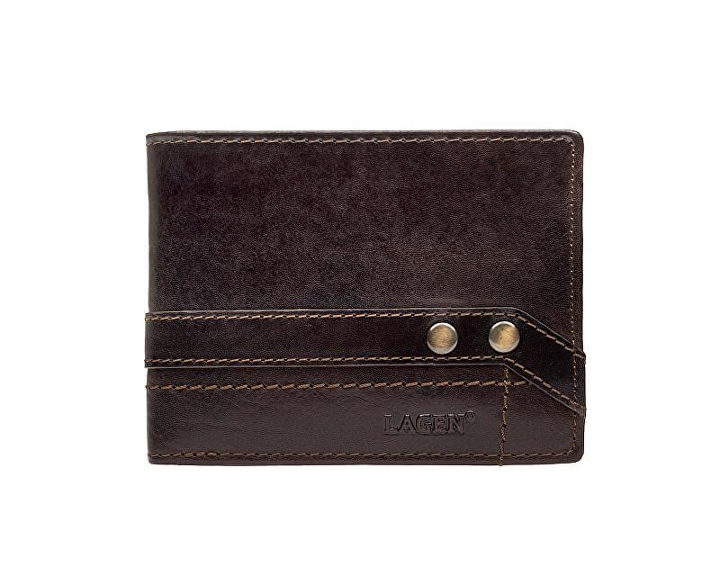 Lagen Brown portofel din piele 5103 W / T Dark Brown