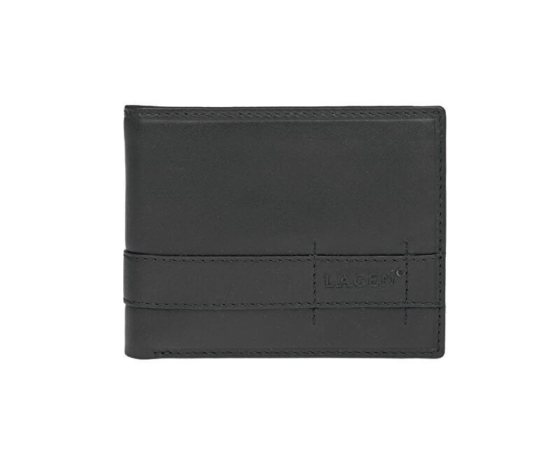 5867e3a4c1 Lagen Pánska čierna kožená peňaženka Black 11224
