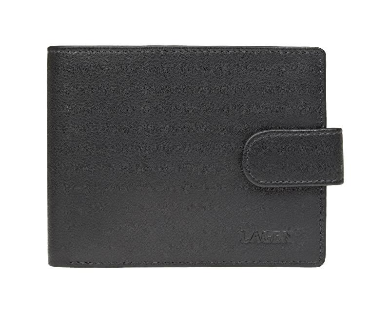 Lagen Pánska čierna kožená peňaženka Black C-22 L  f8933adafb3