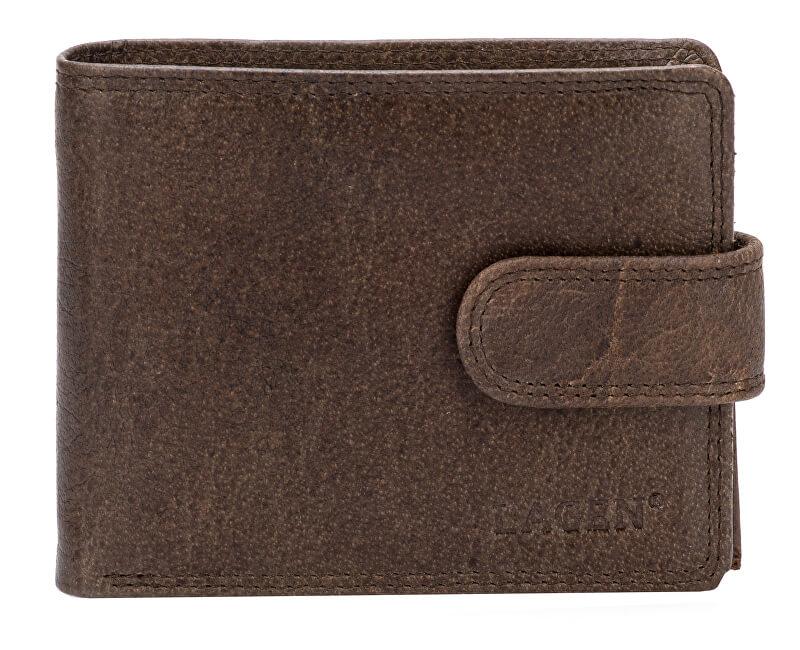 Lagen Pánská kožená peněženka 4006 Dark brown