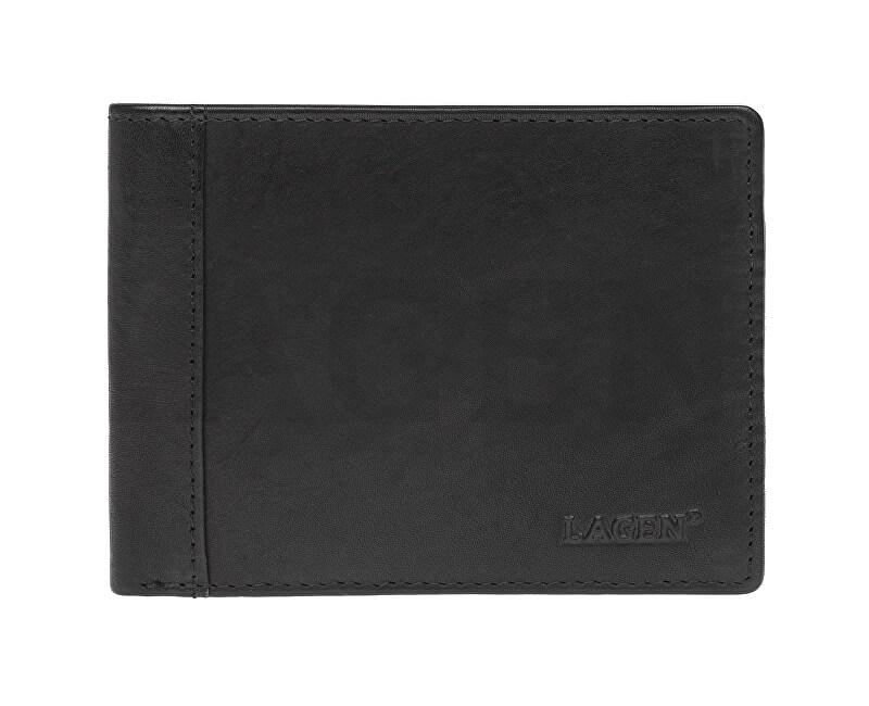 Lagen Pánská kožená peněženka 7176 E BLK