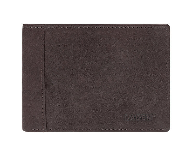Lagen Pánská kožená peněženka 7176 E BRN