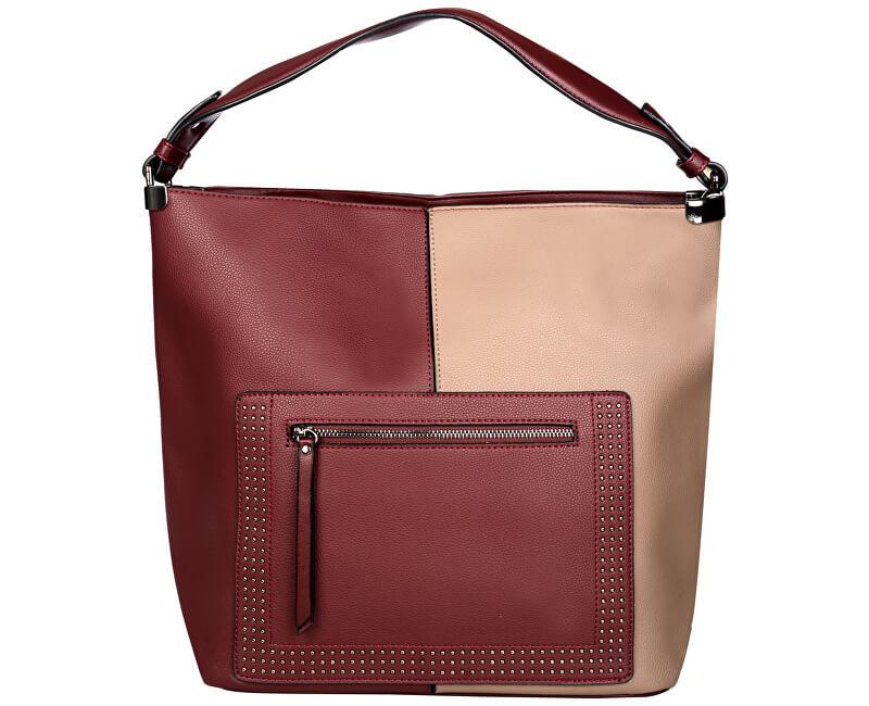 Lecharme Elegantní kabelka 1633 Wine-Brown