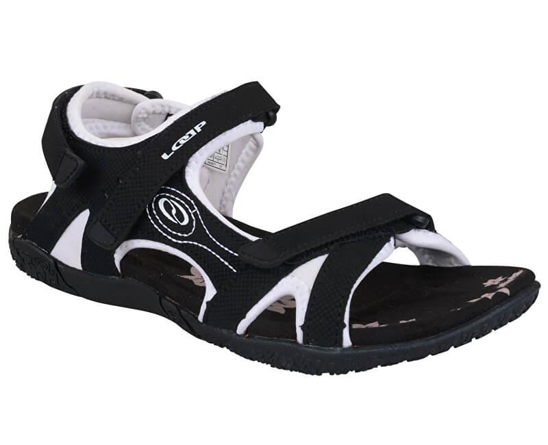 LOAP Sandale pentru femei Caffa Black/Bl de Blanc alb negru SSL1758-V11A
