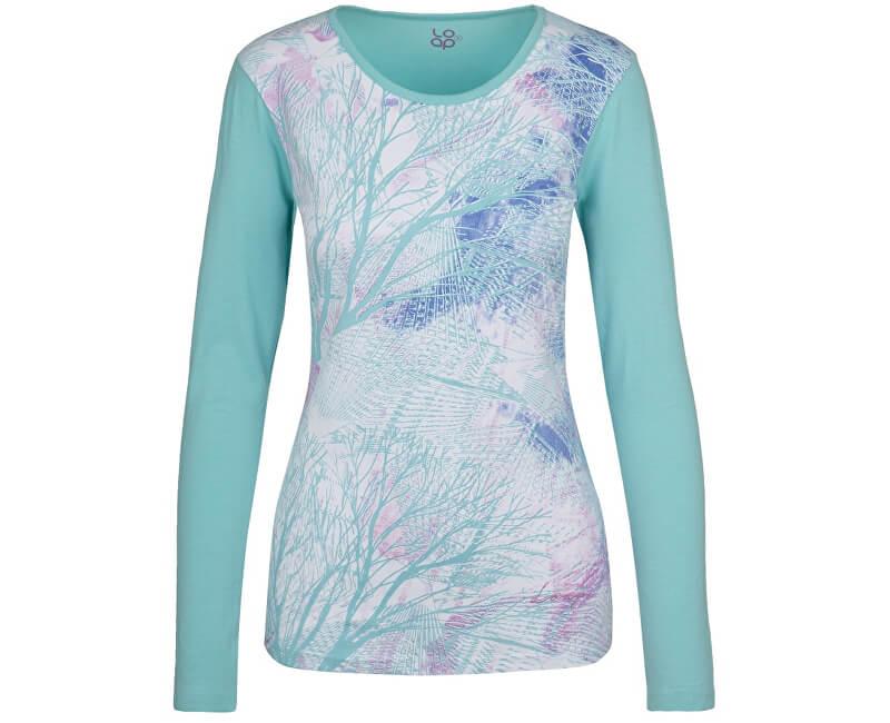 LOAP Dámské triko Belinda Aqua Splash modrá CLW17116-I07I