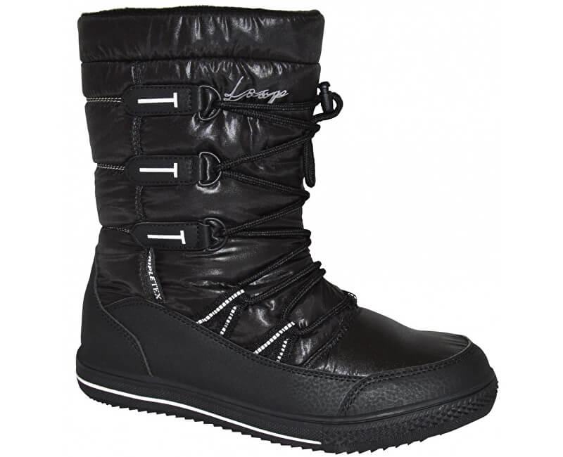 LOAP Dámské zimní boty Joss Black/Bl De Blanc SBL1745-V11A