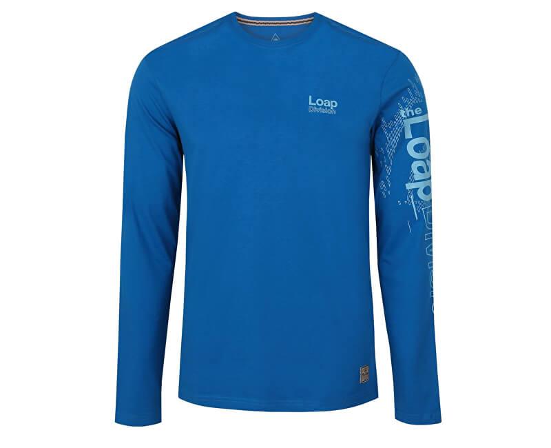 LOAP Pánské triko s dlouhým rukávem Bahu Mykonos modrá CLM1766-M39M